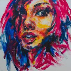 Painting Of Face Acrylic Portrait ideas on pinterest abstract art, art women
