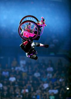 Aaron 'Wheelz' Fotheringham has Spina Bifida; he has used a wheelchair since the age of three and does BMX.