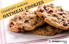 Cranberry-Almond Oatmeal Cookies Recipe via @SparkPeople