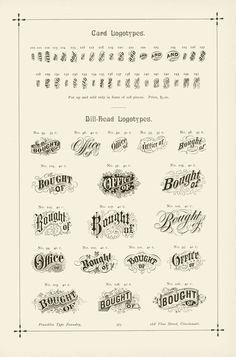 Card Logotypes / Bill-Head Logotypes
