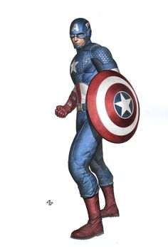 Kotobukiya Avengers Statue Designs: Captain America by Adi Granov *