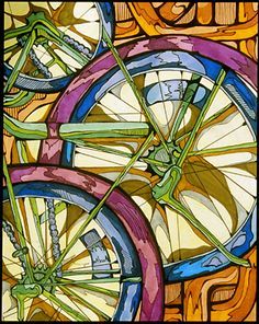 With markers AP Central - Exams: 2008 Studio Art Design: Concentration -- Jordan Harmon High School Art Projects, Ap Studio Art, Bicycle Art, Bicycle Design, Cycling Art, Cycling Quotes, Cycling Jerseys, Drawing Projects, Poster S