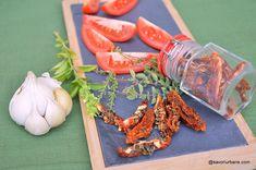 Roșii uscate, deshidratate, pentru iarnă - simple sau aromate, fără sare. Cum se usucă roșiile? Cum se deshidratează roșiile la cuptor, Chili, Carrots, Canning, Vegetables, Food, Chile, Essen, Carrot, Vegetable Recipes