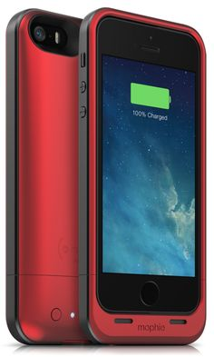 mophie juice pack air (PRODUCT) RED iPhone 5 & 5s Battery Case