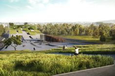 New Budapest museum will feature a sweeping green roof resembling a skateboard ramp
