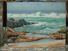 'Rocks and Surf'  - Near Durban -oil