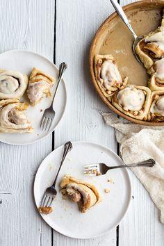 Fluffy Eggnog Cinnamon Rolls| Half Baked Harvest