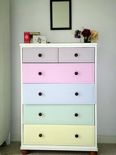 Project Thirty Six: Painting the Bedroom Chest of Drawers - Diy Möbel Bedroom Chest Of Drawers, Ikea Drawers, Painted Drawers, Painted Chest, Chest Drawers, Painted Furniture, Bedroom Furniture, Diy Furniture, Bedroom Decor