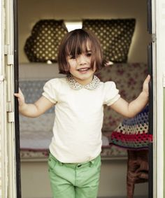 Little Bird by Jools Puff Sleeve T-Shirt - t-shirts - Mothercare cute hair cut for Olivia! minus the bangs.