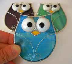 Cute OWLS now Available in Stained Glass Shop! - Joie de Light Glassworks
