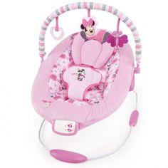 Bright Starts #Hamaca Disney Minnie. Hamaca con preciosos peluches de #disney, muy confortable y con un mecanismo vibratorio que ayudará a tu pequeño a relajarse.