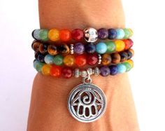 Chakra 108 Mala wrap bracelet or necklace 7 by GreenJadeGoddess