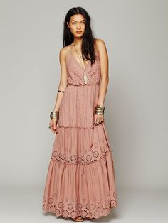 Free People Ophelia Eyelet Maxi Dress at Free People Clothing Boutique