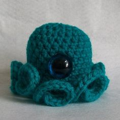 Cousin Ahab the One Eyed Octopus by SnorkersImaginarium on Etsy, £6.50