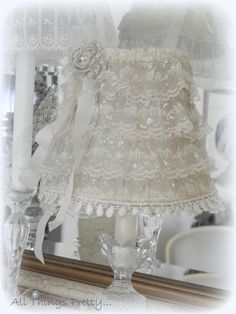 Victorian shabby romantic laces lampshade