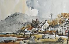 John Hoar, England Watercolor Painting Techniques, Watercolor Sketchbook, Watercolor Landscape Paintings, Sketch Painting, Watercolour Painting, Landscape Art, Watercolors, Art Tutor, Ink In Water