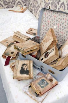 Book transformation - family history journal (give each family member a journal with his or her picture)