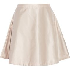 Acne Studios Satin-twill skirt (€125) ❤ liked on Polyvore featuring skirts, bottoms, pink, satin skirts, pastel skirts, knee length a line skirt, a-line skirt and satin a line skirt