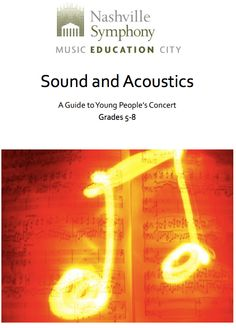 Download this study guide for 5-8 graders on Sound & Acoustics!