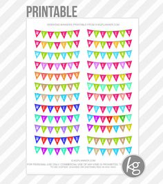 Weekend Banners PDF PRINTABLE Planner Stickers for by KGPlanner