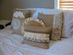 $35 burlap pillow cover collection
