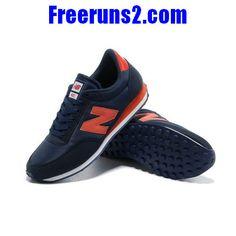 buy popular 83b89 ba64b New Balance 410 Deep Blue Orange Mens Sneakers