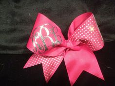 Monogrammed cheer bow by PalmettoPrincessShop on Etsy.