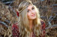 DIY A bohemian flower headband crown halo in a matter of minutes, and wear it in so many different ways.