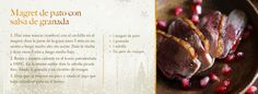 Magret de pato con salsa de granada- visto en Westwing