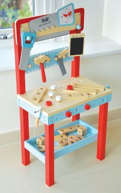Little Carpenters Wooden Toy Workbench Imaginative Play - Indigo Jamm Toddler Workbench, Peter Rabbit Gifts, Play Cube, Innovation, Licht Box, Screws And Bolts, Teepee Kids, Stacking Toys, Unique Toys