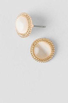 Integra Casting Cat Eye Stud Earrings