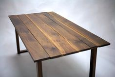 tebian walnut plank table 04 copy Love the wood, not crazy about the grooves in the top though