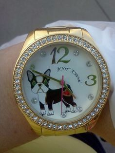 Boston Terrier Watch from betsy johnson. I love her stuff!
