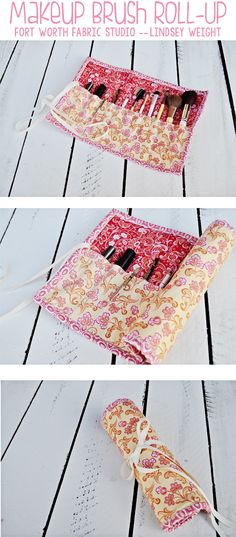 Makeup Brush Roll-Up Tutorial - Fort Worth Fabric Studio -- Lindsey Weight