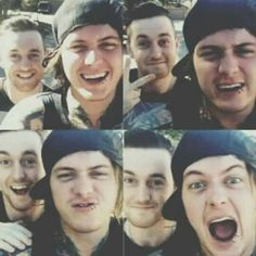 Asking alexandria challenge day 16 favourite bromance is definitely sam and ben ;)