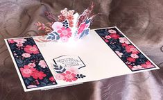 Everything is Rosy Created by Tracie St-Louis 2019 On Stage Quebec Fancy Fold Cards, Folded Cards, Pop Up Cards, Cute Cards, Everything's Rosie, Mothers Day Cards, Tampons, Card Kit, Homemade Cards