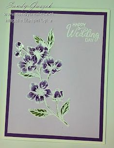 These three size Wedding Cards are simple, quick and easy. They feature the Forever Blossoms Stamp Set from Stampin' Up! Paris Cards, Blender Pen, Love Cards, My Stamp, Stamping Up, Stampin Up Cards, Wedding Cards, Projects To Try, Greeting Cards