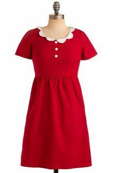 Strawberry Waffles Dress via ModCloth Princess Outfits, Girl Outfits, Fashion Outfits, Mod Dress, Dress Skirt, Little Dresses, Cute Dresses, Strawberry Waffles, Strawberry Fields