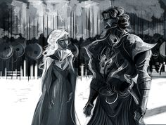 Daenerys Targaryen and Daario Naharis by kallielef, via tumblr