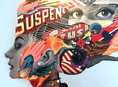 A selection of the latest creations of the street artist Tristan Eaton, between massive murals and detailed canvas. Based in Los Angeles, Tristan Eaton contin