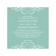 Simple & elegant wedding invitation