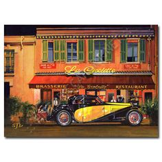 Sheridon Davies  Supper at La Goelette sheridondavies.com Vintage Graphic, Vintage Posters, Car Illustration, Illustrations, Motor Car, Racing, In This Moment, Cars, Signs