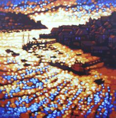 Fowey sunset. Acrylic on box canvas 50 x 50cm Commissioned picture - SOLD www.gordon-hunt.co.uk find me on facebook