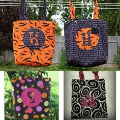 Halloween Trick or Treat Bag or Library Tote