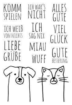 "Stempelset ""Anton & Felix"" | Klartext-Stempel von www.danipeuss.de"