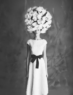 Don't care for the background, but love the style.   (white dress, flowers, hair)  © Oleg Decola