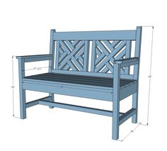 Woven Back Bench ... can use pine w/ outdoor sealant instead of cedar or treated wood