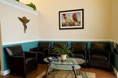 Patient waiting room- the color on the walls add so much charm