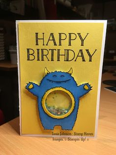 Tania Johnson : Stamp Haven: Yummy In My Tummy Monster Happy Birthday