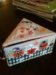 Just Nan -  Halloween box with pin cushion